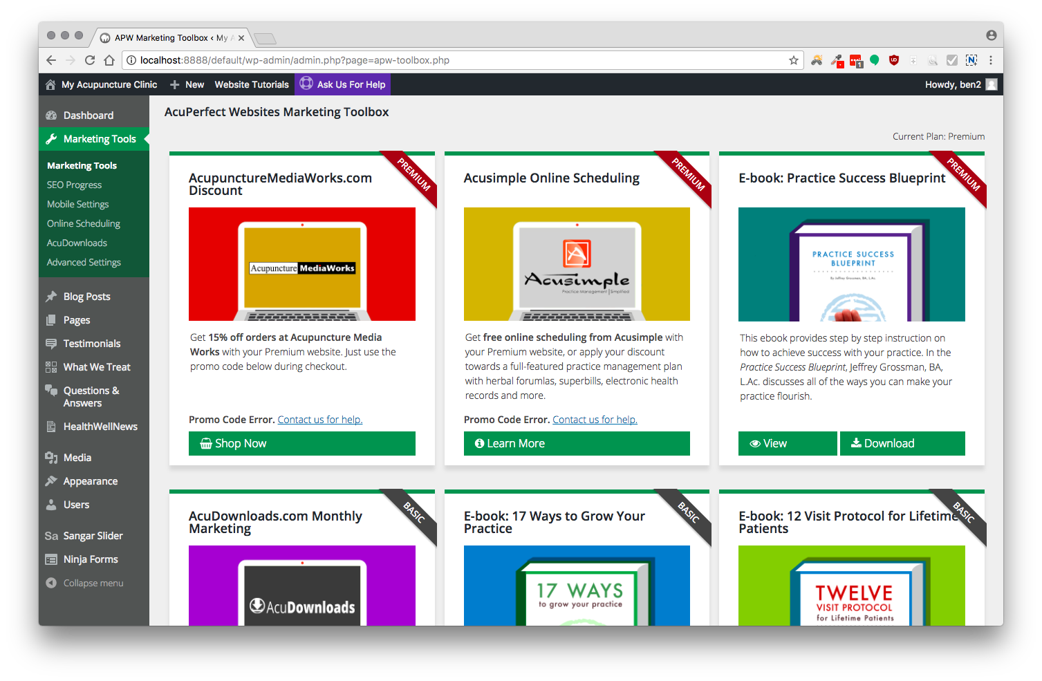New dashboard and marketing toolbox acuperfect websites our new marketing toolbox gives you access to bonus content that makes an acuperfect website more than just a website access training e books seo writing baditri Gallery