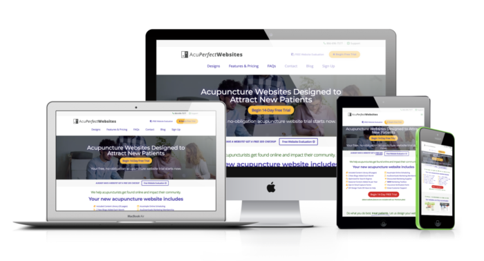 Websites designed for Acupuncturists | AcuPerfect Websites | Monitors