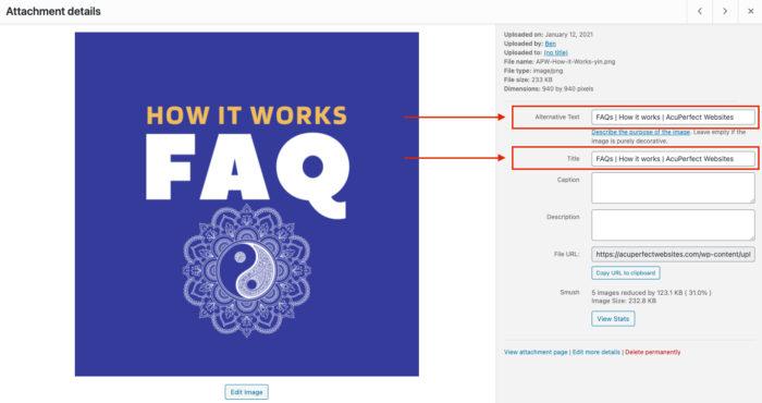 ALT Tag Example | ADA Requirements | AcuPerfect Websites
