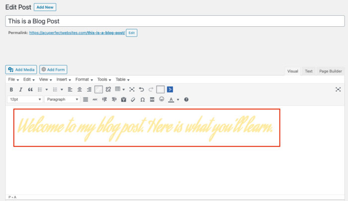 Font Readability Example | ADA Requirements | AcuPerfect Websites