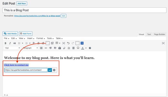 Link Description Example | ADA Requirements | AcuPerfect Websites