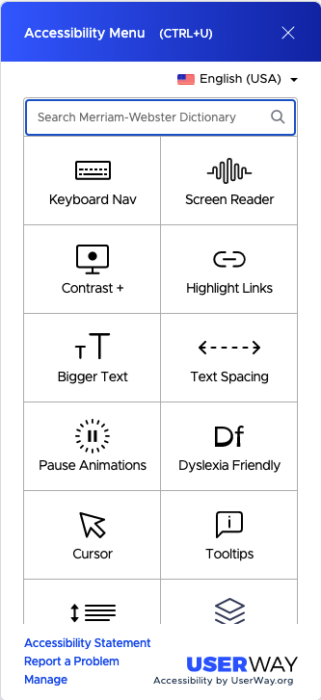 Userway Accessibility tools