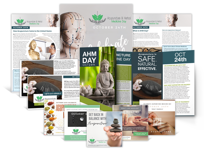 Acupuncture & Herbal Medicine Day Marketing Kit   Product Shot